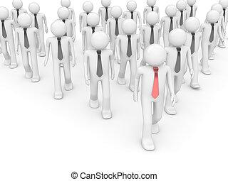 Team leader in group