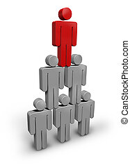 Team Leader business concept with human characters grouped...