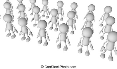 Team Leadership conceptual animation in High Definition