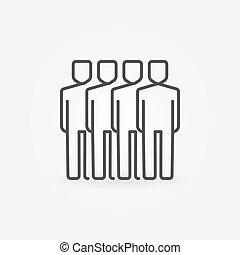 Team line icon