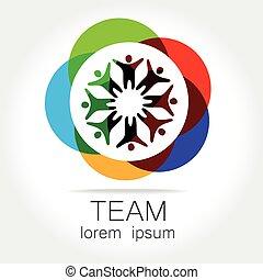 team logo - Team logo template. Social media marketing idea....