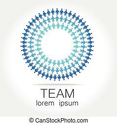 Team logo template. Social media marketing idea. Corporate symbol. Social network.