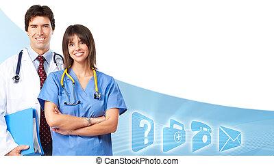 team., médecins