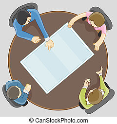 Team Meeting - An image of people having a team meeting.