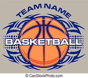 team name tribal basketball design