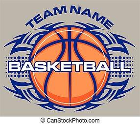tribal basketball - team name tribal basketball design