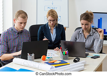 Team of architects in the office