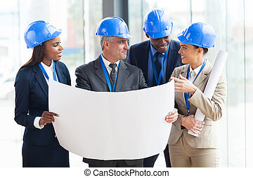 team of architects interacting