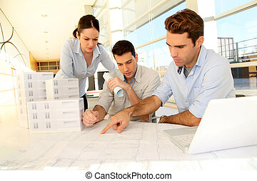 Team of architects working on project