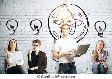 Education and idea concept