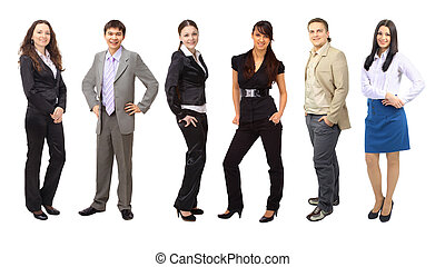 Team of business people group