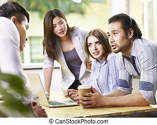 team of business people meeting in office
