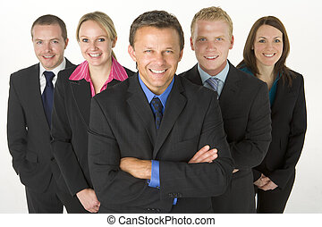 Team Of Business People Smiling