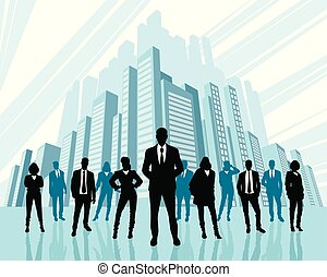 Team of business people