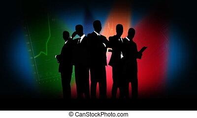 Team of businessmen.