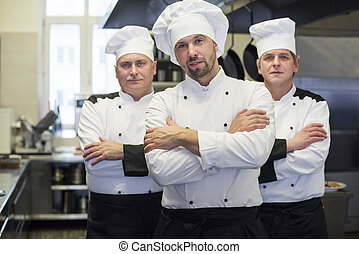 Team of chefs in the kitchen