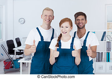 Team of cleaners