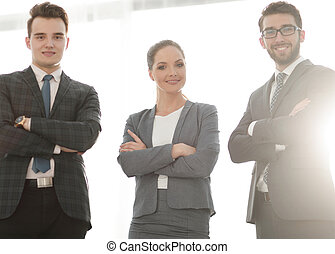 team of confident business people