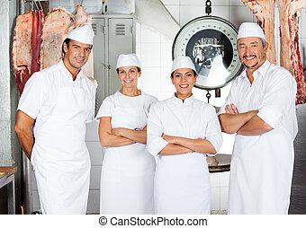 Team Of Confident Butcher