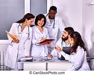 Team of doctor in hospital.