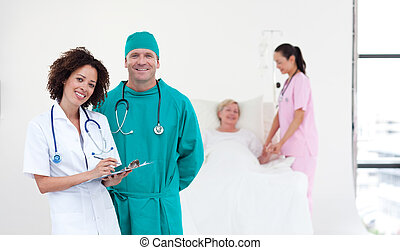 Team of Doctors in a hospital