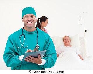 Doctors working in a Hospital ward