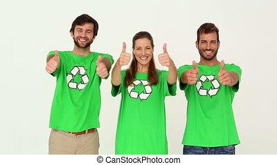 Team of environmental activists smi