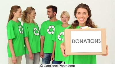 Team of environmental activists