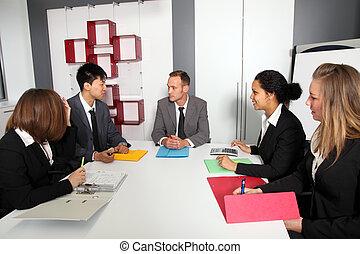 Team of executives