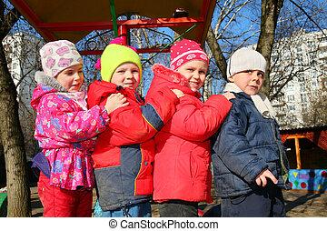 team of four in kindergarten