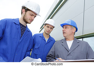 team of laborers with the foreman
