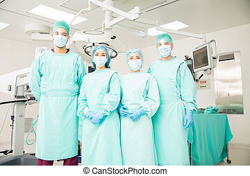 Team of surgeons ready to operate