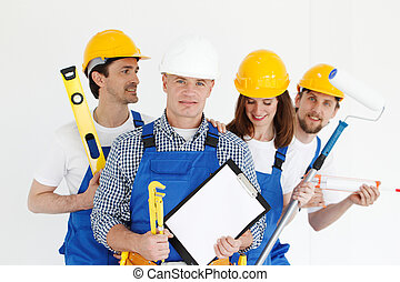Team of workers