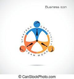 Team partner sign design vector template
