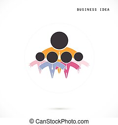 Team Partners Friends sign design vector template. Together union symbol of friendship, partnership logotype. Business Teamwork cooperation icon.