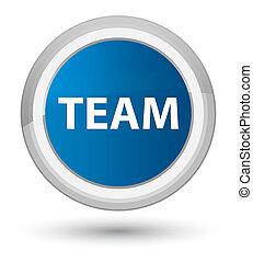 Team prime blue round button