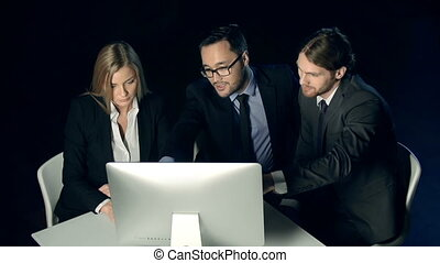 Team Project - Team of three working on business project...
