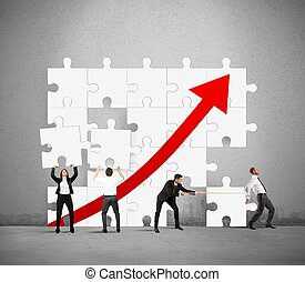 Team raise the statistics - Team works together to raise the...
