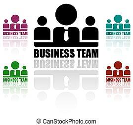 team, set, zakenbeelden
