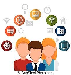 team social network people