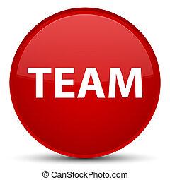 Team special red round button