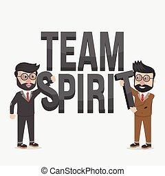 team spirit business illustration c