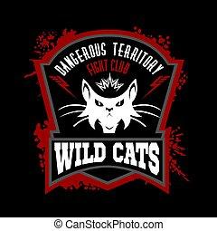 team., sport, -, wildcat, mascotte