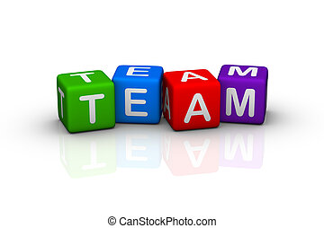 team (buzzword colorful cubes series)