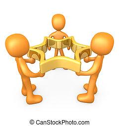 Team Success - Computer generated image - Team Success .