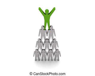 Team success. Leadership.