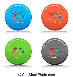 Team Synergy Button - An image of team synergy button.