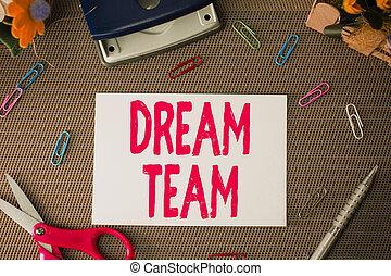 team., texte, faire, toile fond., ou, textured, mieux, concept, feuille, uni, plus, groupe, equipments, dehors, écriture, unité, signification, prefered, ciseaux, écriture, rêve, démontrer, au-dessus