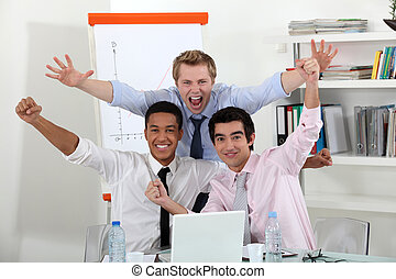 team., triomphant, business