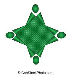 Team union green application logo